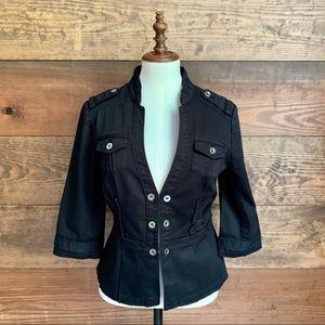 WHBM Black Peplum Jacket